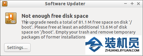 "如何在Ubuntu上修复""Not Enough Free Disk Space On /boot"""